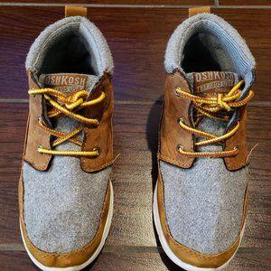 Osh Kosh Gray and Brown Boots
